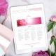 WebSite mit SeelenSymbol für Christina Vikoler. Ein Zeichen für den Ruf der Seele in Pink und Rose
