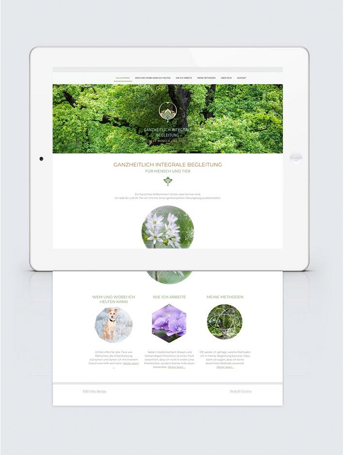 Ganzheitlichen Design und WebSite für Edith Kortmann
