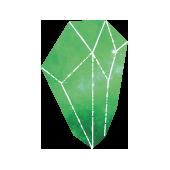 Geometrischer 3D Körper der heiligen Geometrie, grün