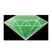 Geometrischer 3D Körper der Heiligen Geometrie, hellgrün